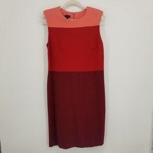 Talbots Color Block Ponte Knit Sheath Dress 10